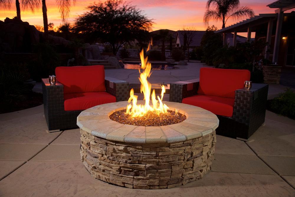 American Fireglass 10-Pound Fire Glass with Fireplace ...
