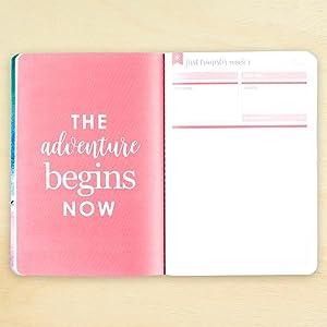mini scrapbook baby shower gift document memories; baby girl mini pocket PLANNER travelers notebook new mama Pregnancy TN planner