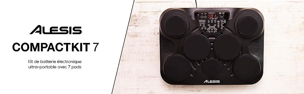 Kit de batterie électronique ultra-portable avec 7 pads