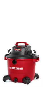 craftsman 16 gallon wet dry vacuum with attachments