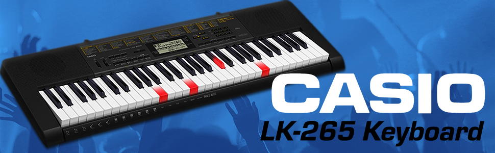 Casio LK-265 61-Key Lighted Portable Touch Sensitive Keyboard with Power  Supply