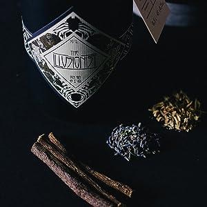 The Illusionist Dry Gin, Organic Gin, Blue Gin, 16 Botanicals