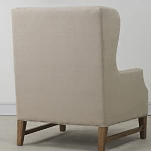 Fantastic Tov Furniture Devon Linen Wing Chair Ibusinesslaw Wood Chair Design Ideas Ibusinesslaworg