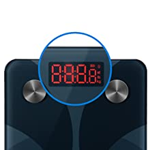 Get a clear view of your results at a glance, beautifully displayed on the scale.