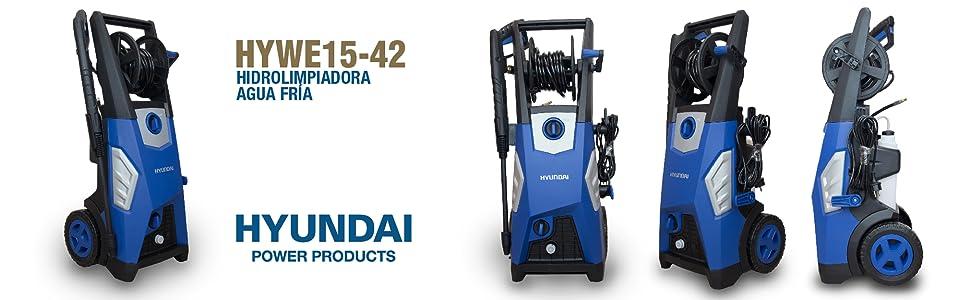 Hyundai HYWE 15-42 Hidrolimpiadora, 230 V, Azul y Negro, Grande: Amazon.es: Bricolaje y herramientas