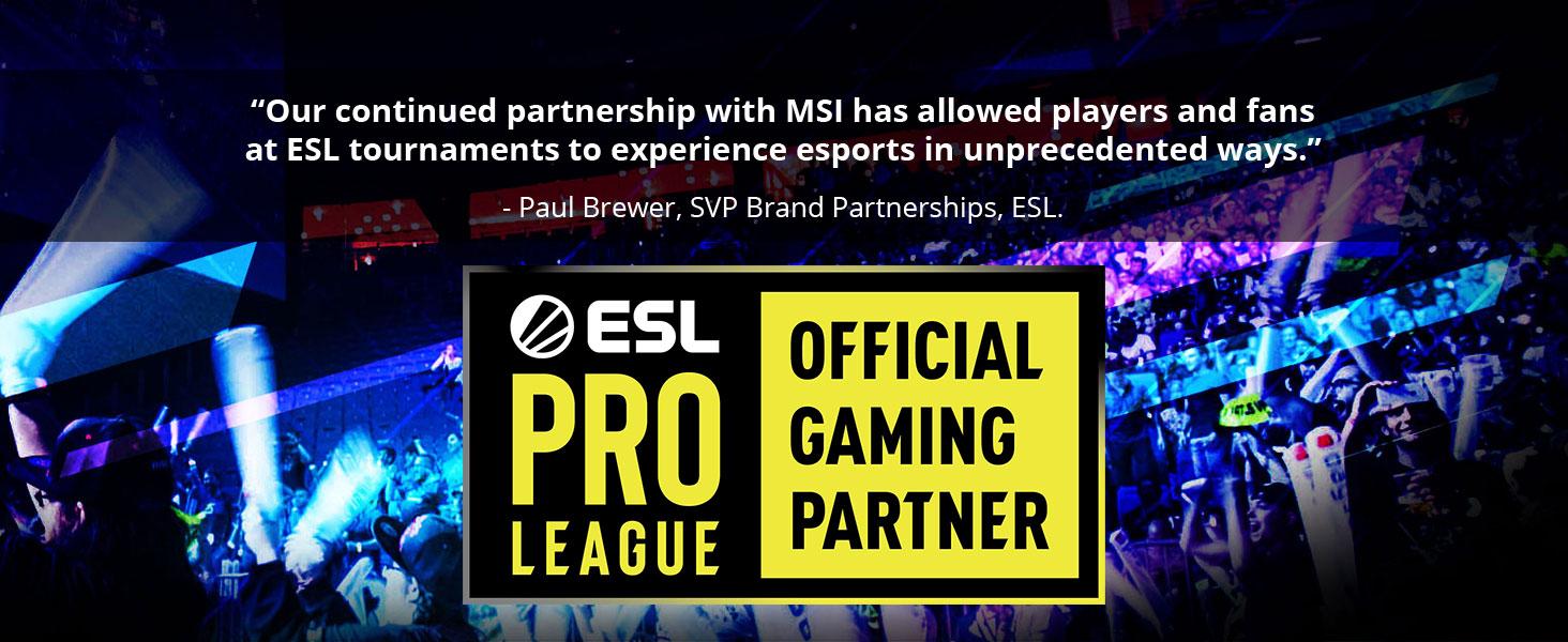 msi, mpg z490 gaming pro carbon, esl pro league official gaming partner, esl partner, sponsor