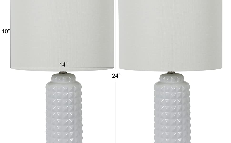 Amazon Com Decor Therapy Mp1634 Pair Of 24 24 Inch Felix Led Table Lamps Set Of 2 White Home Improvement