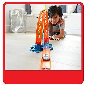 Hot Wheels Track Builder accesorios para pistas de coches acelerador de Loop (Mattel GLC90)