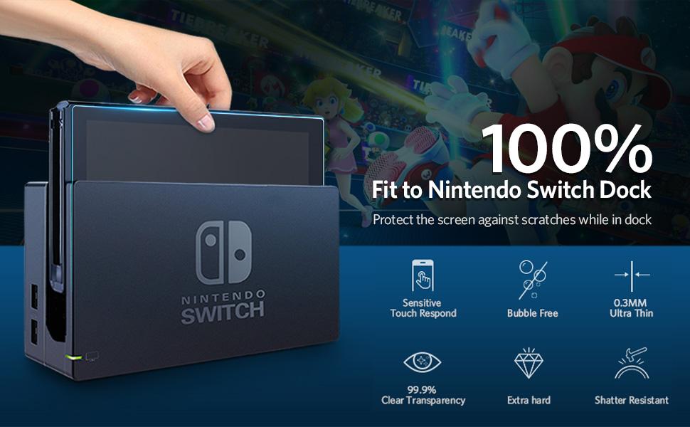 Flysee Protector de Pantalla para Nintendo Switch, [2-Unidades ...
