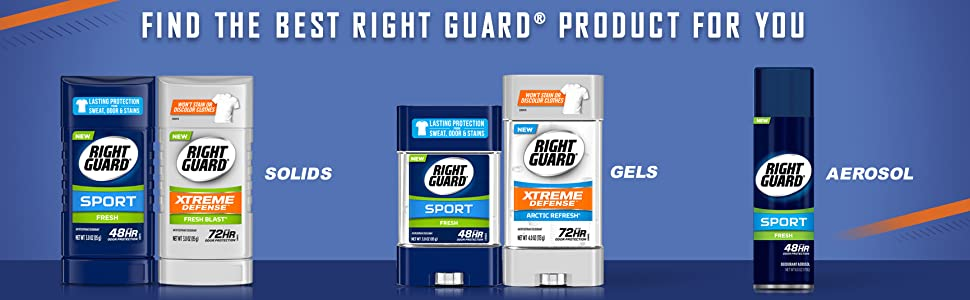 FIND THE BEST RIGHT GUARD PRODUCT FOR YOU