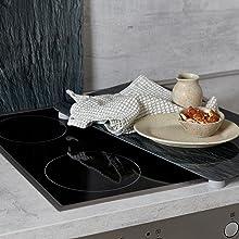 De kookplaten van Wenko zijn gemaakt van slagvast, krasbestendig glas,