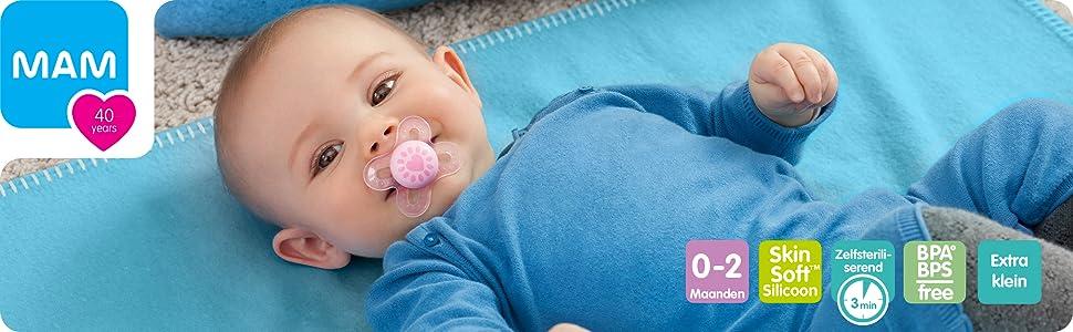 mam start siliconen fopspeen speentje speen voor pasgeboren baby kleine