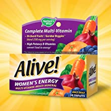Amazon Com Alive Women S Energy Nature S Way 50 Tabs Health Personal Care