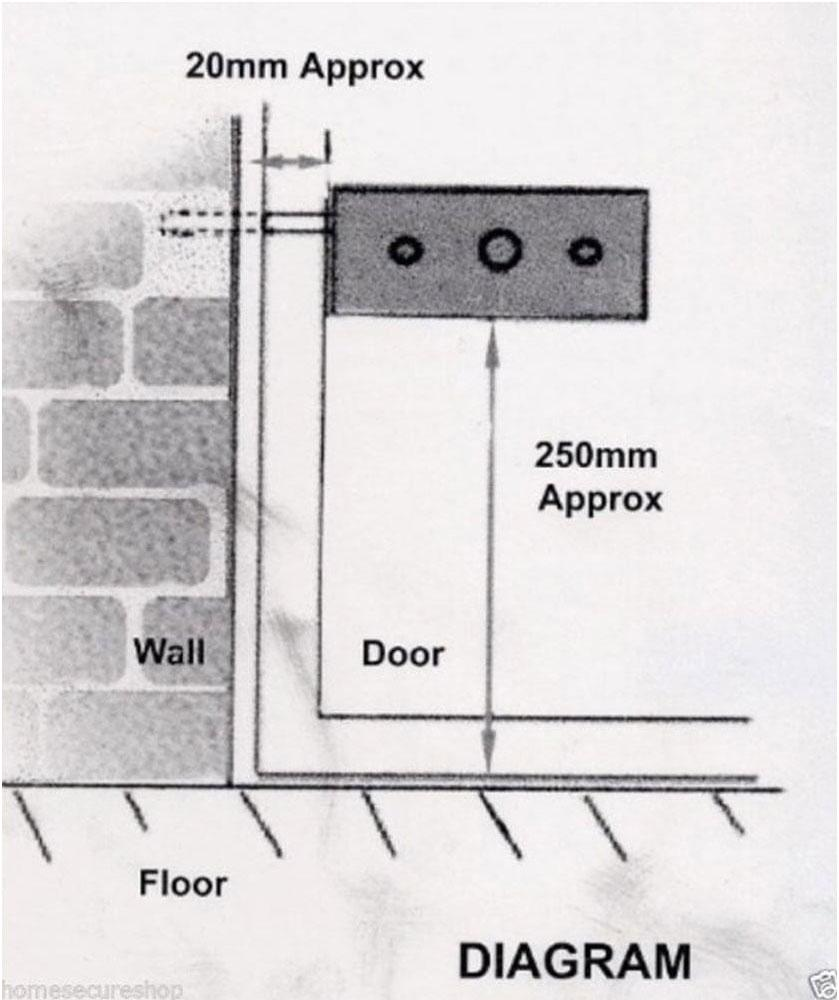 Asec Hs1829 Garage Door Lock Black Diy Tools Picking Diagram Security