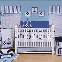 Little Sailor White/Blue/Navy Bedding