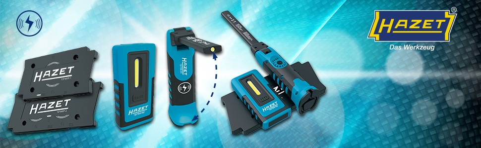 schwarz-blau HAZET LED Pen Light 1979-11 kabelgeladen, Top-Licht 120, Hauptlicht bis zu 200 Lumen, Ladedauer: 2h, L/änge: 180 mm