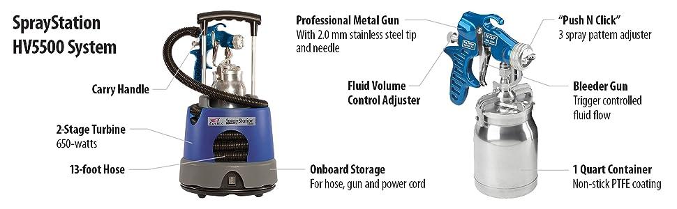 Earlex Spray Station HV5500 Paint Sprayer HVLP Spray Gun System