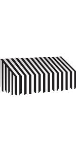 Black amp; White Stripes Awning