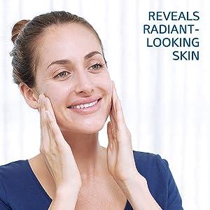 reveals radiant-looking skin