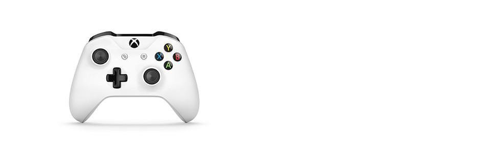 Xbox One Wireless Controller- White (with 3.5mm Jack + Bluetooth)