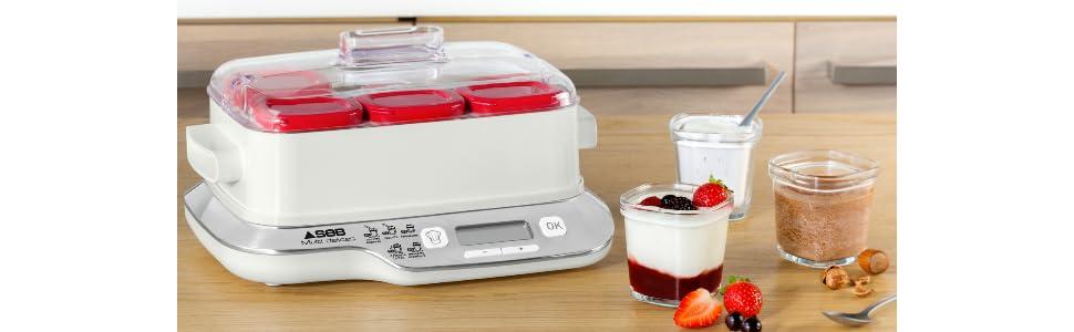Seb Yg660100 Yaourtiere Multi Delices Express 6 Pots 600w Rouge Et