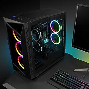 Sharkoon REV200 RGB - Caja de Ordenador, PC Gaming, Semitorre ATX, Negro: Amazon.es: Informática