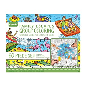 Amazoncom Crayola Family Escapes Group Coloring 24 Coloring