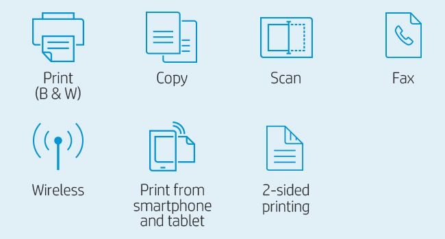 printing scanning copying faxing mono black and white mobile phone 802.11