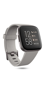 fitbit; fitbit versa 2; smartwatch; connected GPS; music; battery; heart rate; health watch; steps