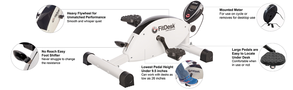 Amazon Com Fitdesk Cycle Under Desk Cycle Sports