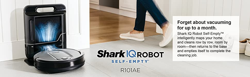 RV1001AE, Shark, Robot, Vacuum, Auto-Empty, Top banner
