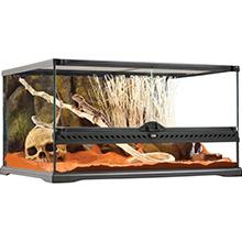 terrario de vidrio; reptiles; terrarios exoterra