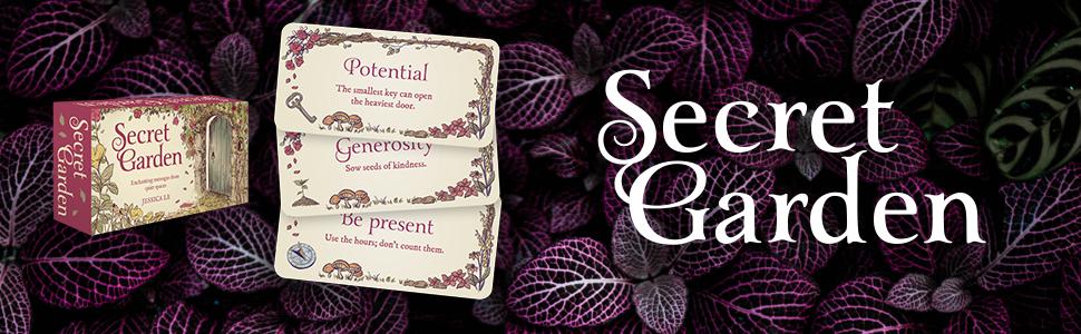 secret garden; reading card; oracle cards; mini cards; affirmations; rockpool; mini deck; meditation