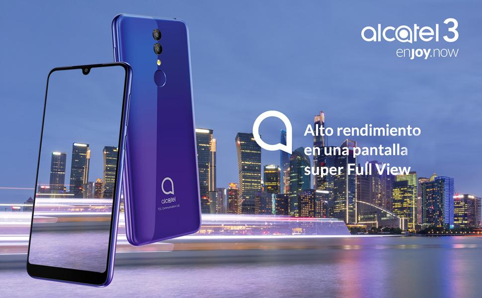 Alcatel 3 - Smartphone (RAM de 3 GB, Camara 13 MP, bateria 3500 mAh, Android), Color Azul: Alcatel: Amazon.es: Electrónica