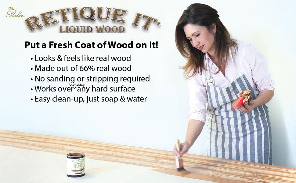 Retique It,liquid wood,chalk paint,diy,furniture paint,faux finish,wood look,wood finish,wood stain