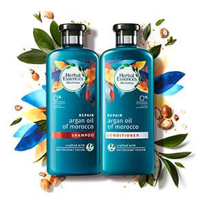 Herbal Essences Argan Oil of Morocco Shampoo Conditioner collection
