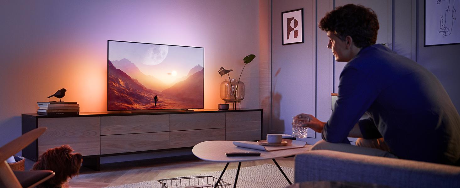 Philips Ambilight 65OLED804 164 cm (65 Zoll) Oled TV (4K