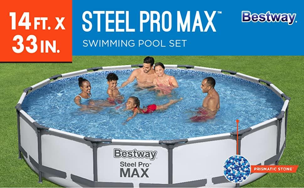 305 x 100 cm Bestway 56334GS-03 Frame Pool Steel Pro Set mit Filterpumpe