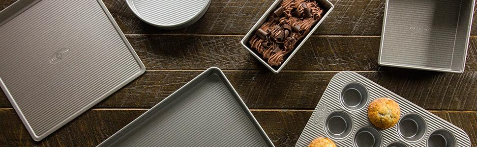 USA Pan Bakeware, Bakeware, Baking set, Bakeware Set, Cookie Sheet, Cookie Sheets, Cookie Sheet Pans