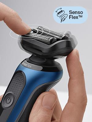 Braun Series 6 60-B4500cs Afeitadora Eléctrica, máquina de afeitar barba hombre de Lámina con Base de Carga, Recortadora de Barba, Uso en Seco y Mojado, Recargable, Inalámbrica, Azul: Amazon.es: Salud y cuidado