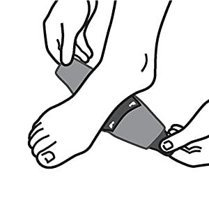 illustration of a foot centering arch of foot over support