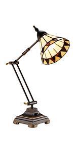 Torchstar Metal Swing Arm Desk Lamp Interchangeable Base