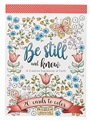 Christian Art Gifts Be Still and Know Coloring Cards