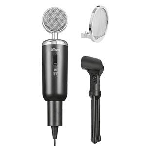 Microfone de Mesa Madell para PC e Laptop 3.5mm com Tripé e Proteção de Vento - 21672 - Trust