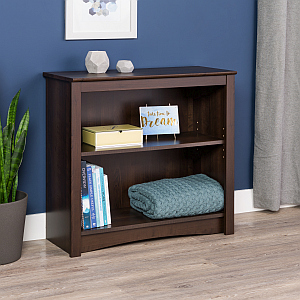 Prepac EDL-3229 2-shelf Bookcase, Espresso