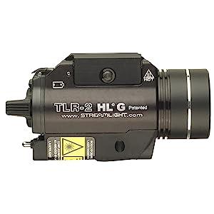 Streamlight 69265 TLR-2 HL G High Lumen Tactical Light, side view.