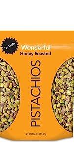 honey roasted pistachios no shells