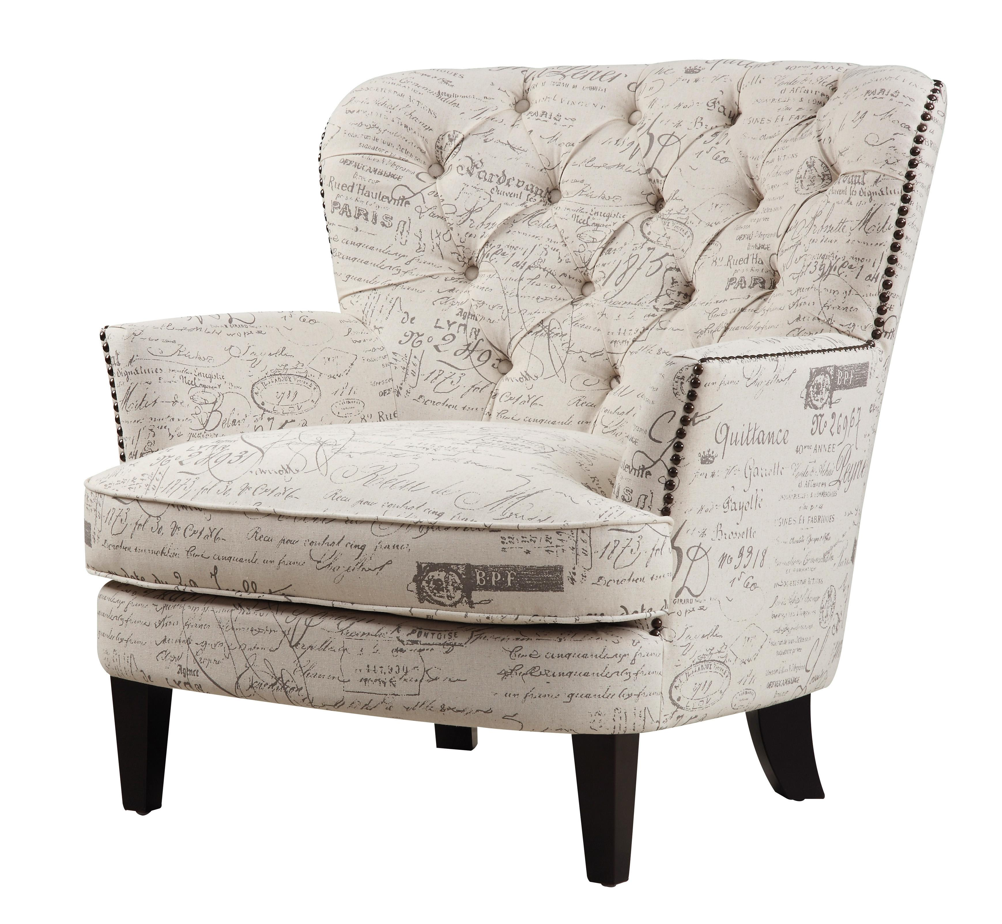 Amazon Pulaski Button Tufted Upholstered Accent Chair in