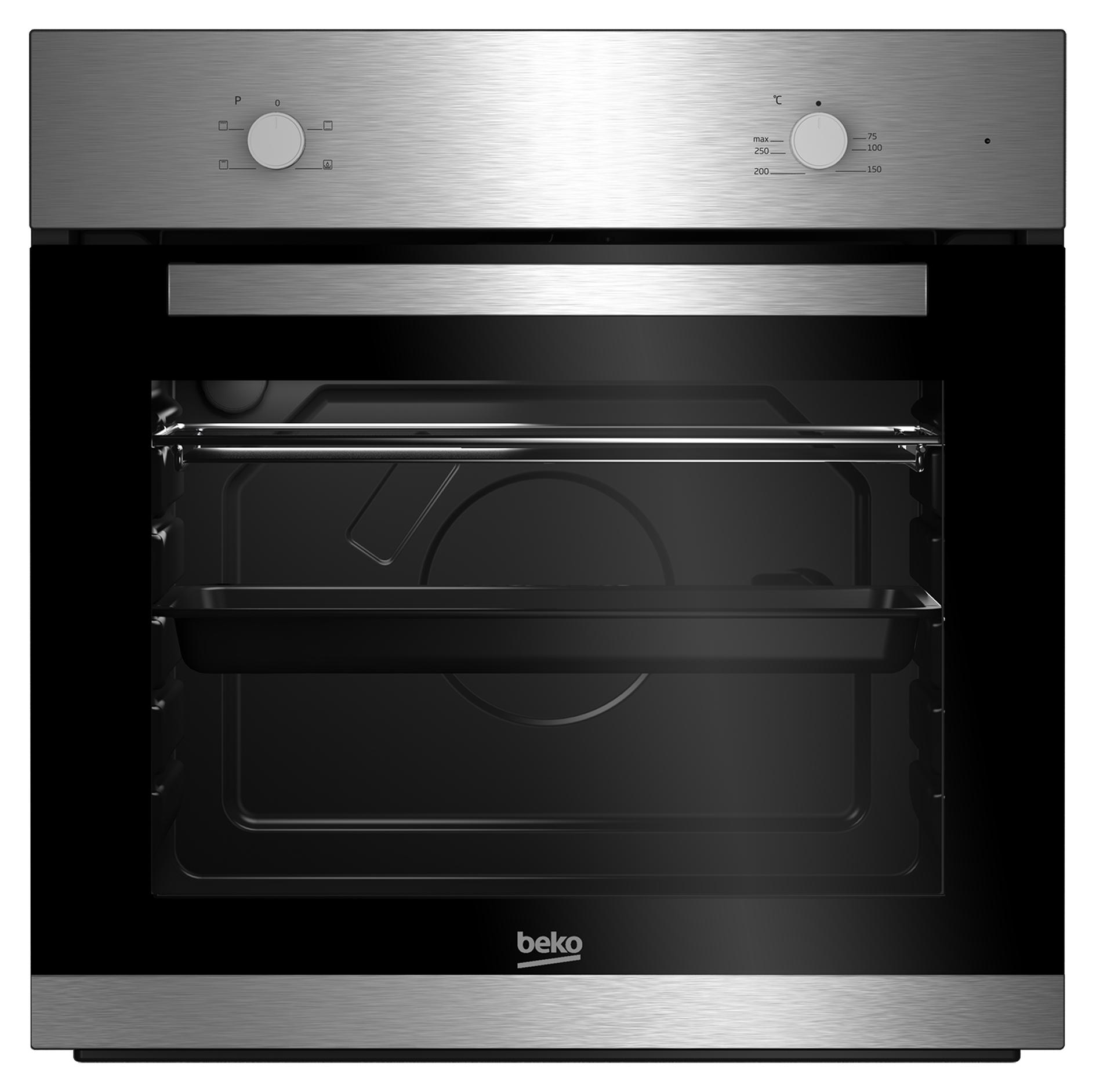 beko bie22000x backofen elektro a 66 l vollglas innent r silber schnellaufheizung. Black Bedroom Furniture Sets. Home Design Ideas
