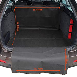Größe 60x70 cm Kofferraumnetz Schwarz Gepäcknetz Schutznetz Autonetz